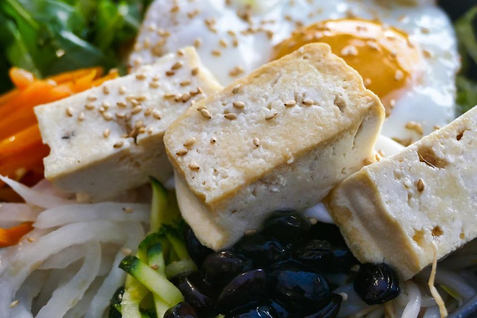 豆腐, 食べる, 食品, 健康, 野菜, ランチ, おいしい, 食事, お楽しみください, 菜食主義者, 栄養