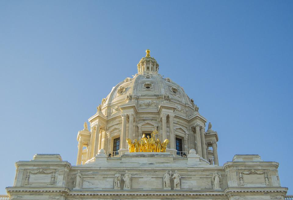 Minnesota, Capitol, Statue, Dome, St, Paul, Historic