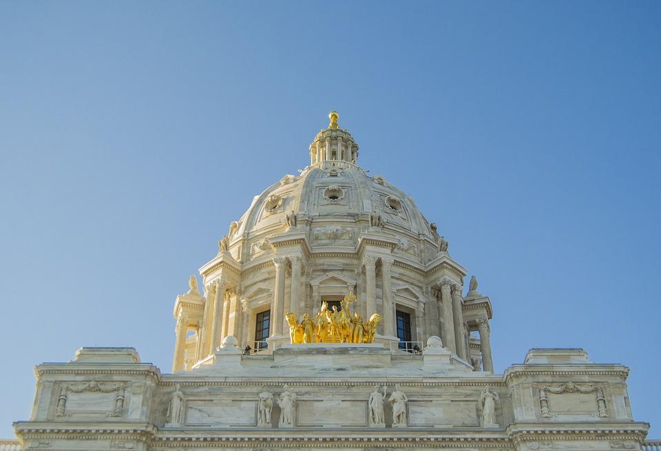 Minnesota, Capitol, Statue, Dome, St, Paul, Historic