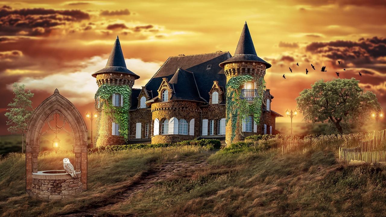 Фантастическая картинка домов