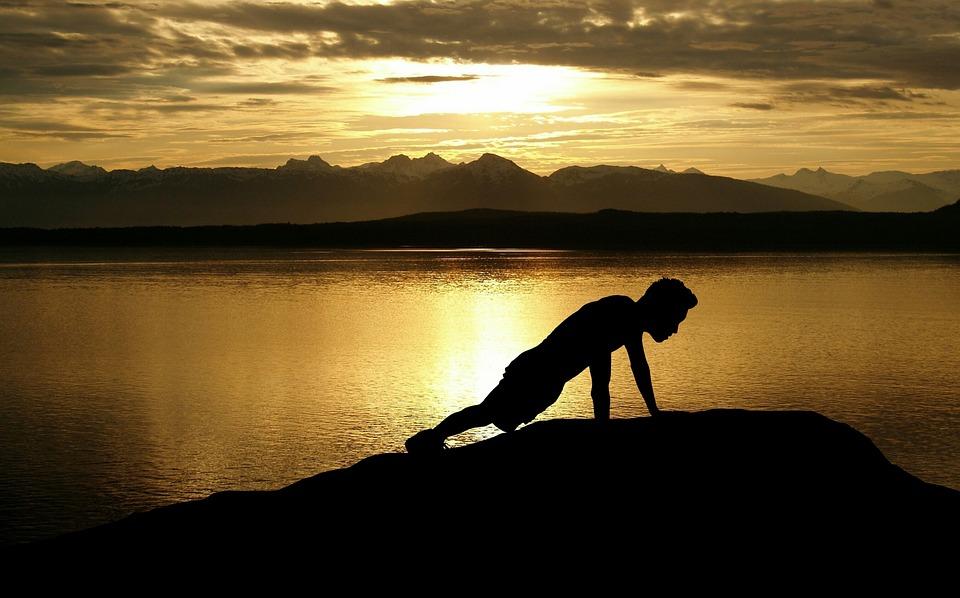 Crossfit, 定量, 困難, 山, 運動, 男, フィットネス, フォーカス, 目標, 健康