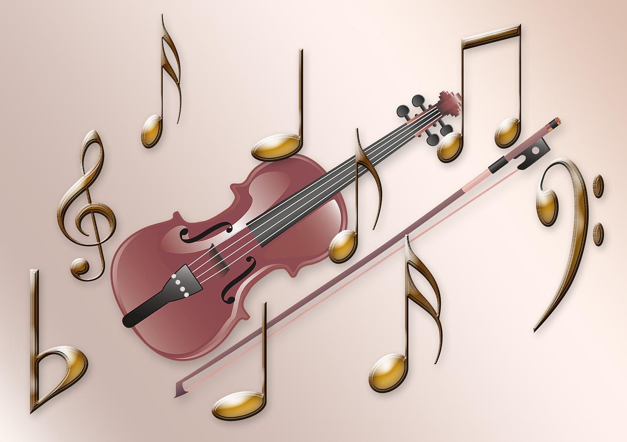 Картинка скрипка и ноты