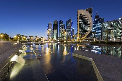 Cityscape, Doha, Qatar, City, Buildings