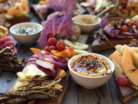 Vegan, Hummus, Healthy, Vegetarian, Food