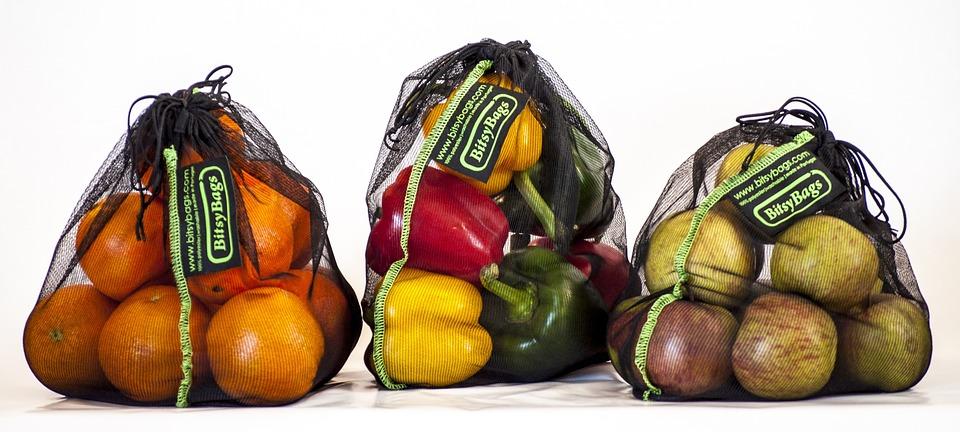 Tas Belanja, Berkelanjutan, Buah Dan Sayuran, Organik