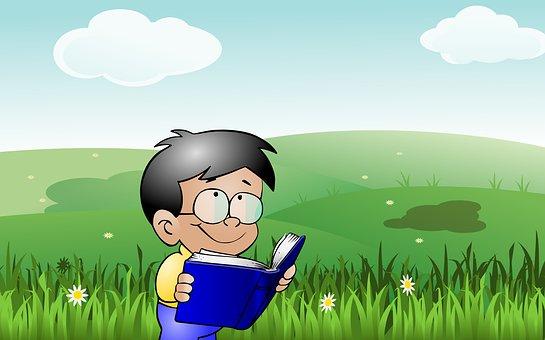 Kid Lesen, Baby, Buch, Kinder, Konzept