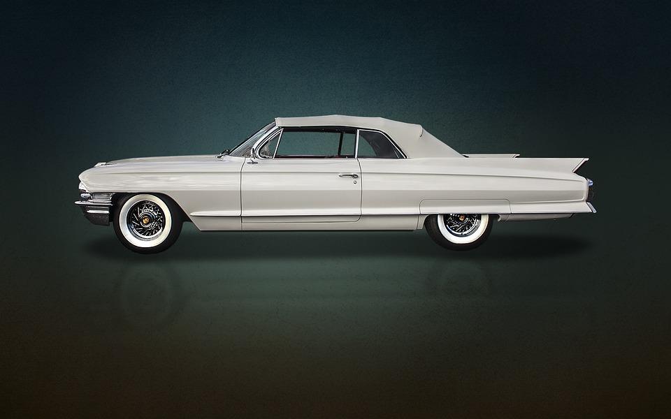Sixties, Cadillac, Cadi, Convertible, White Walls