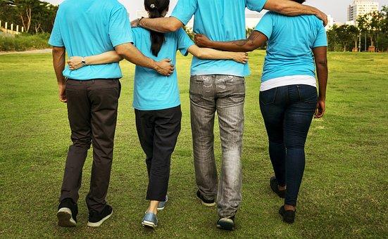 腕周りに, 戻る, 青, 慈善団体, 寄付, 環境, お友達と, 友情