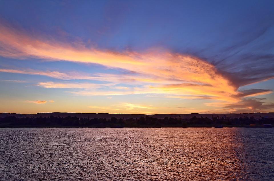 Egypt, Nile, Aswan, Sunset, Himmel, Reiser