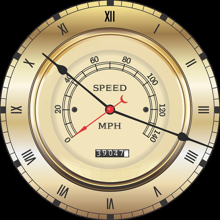 Speedometer Vintage Clock Roman Numerals Vehicle