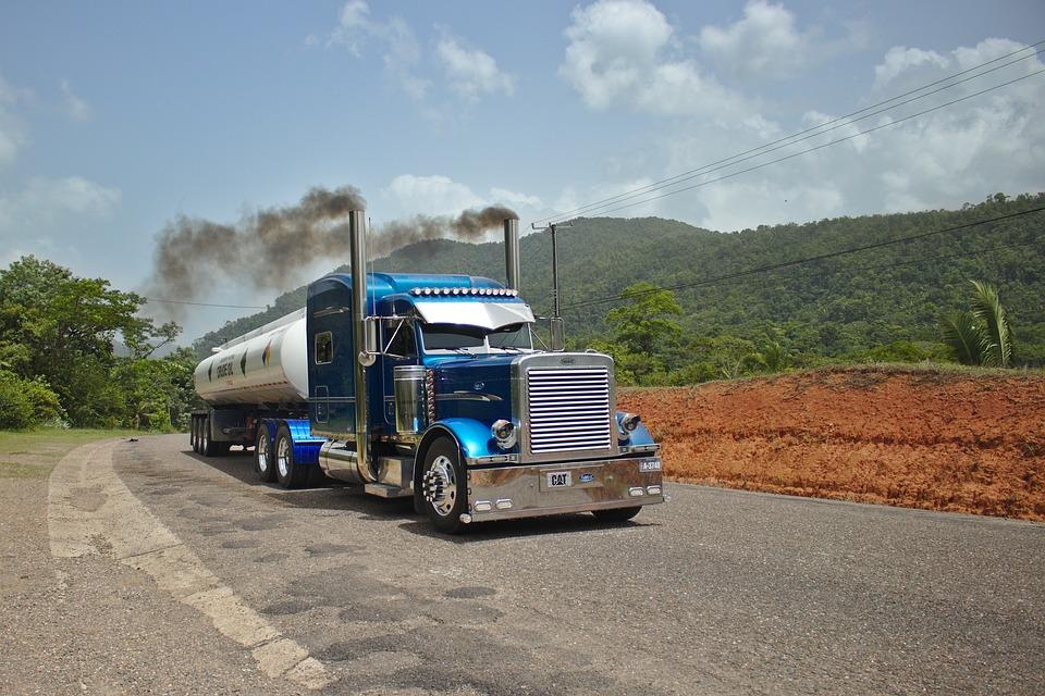 Peterbilt, Camión, Tractor, Cisterna, Transporte, Azul