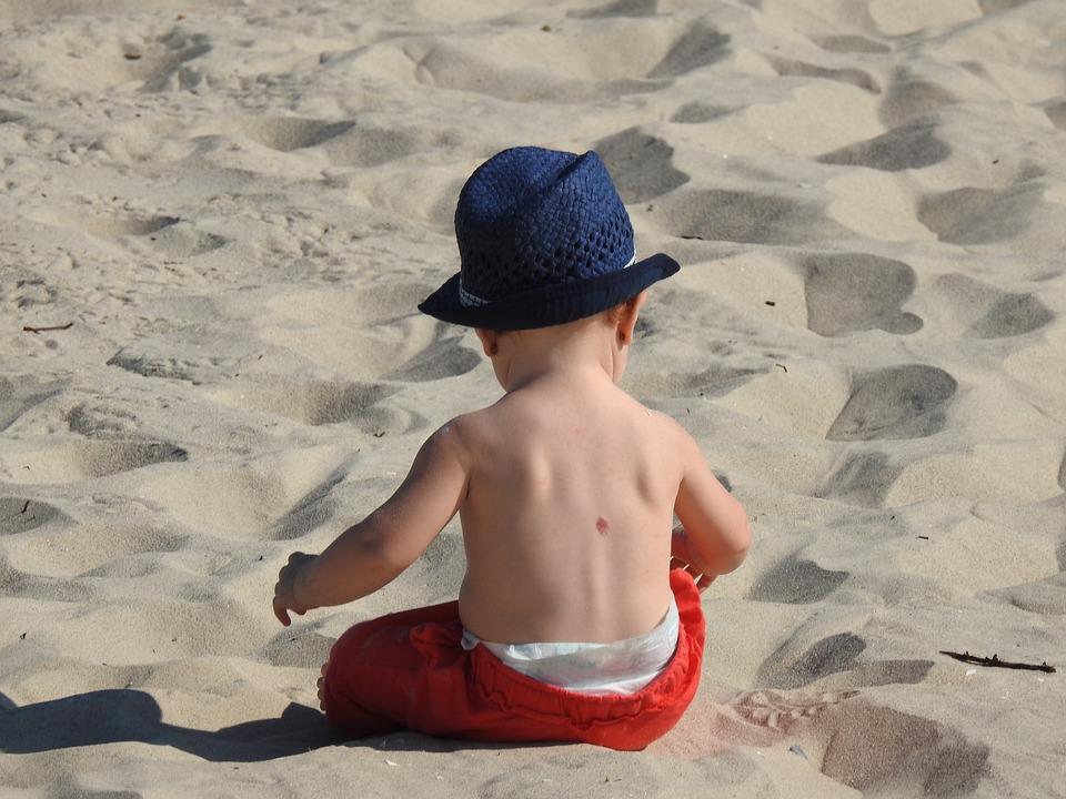 Child, Baby, Beach, Sand, A Small Child, Boy, Love