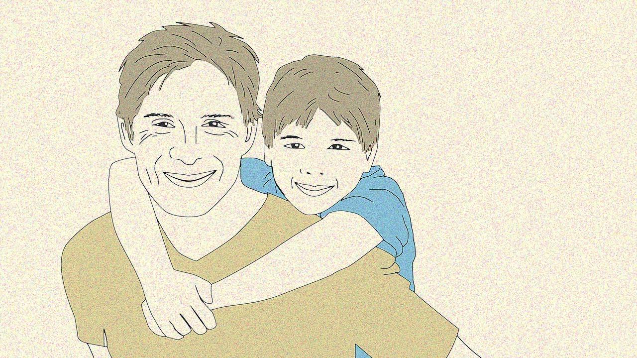 внешний картинки папа и сын рисунки сеуле