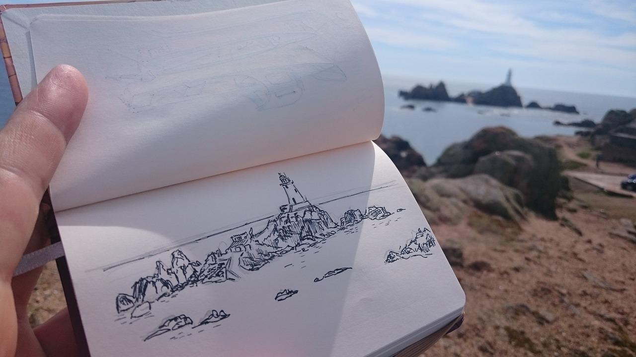 Sketchbook Sketch Lighthouse La Free Photo On Pixabay