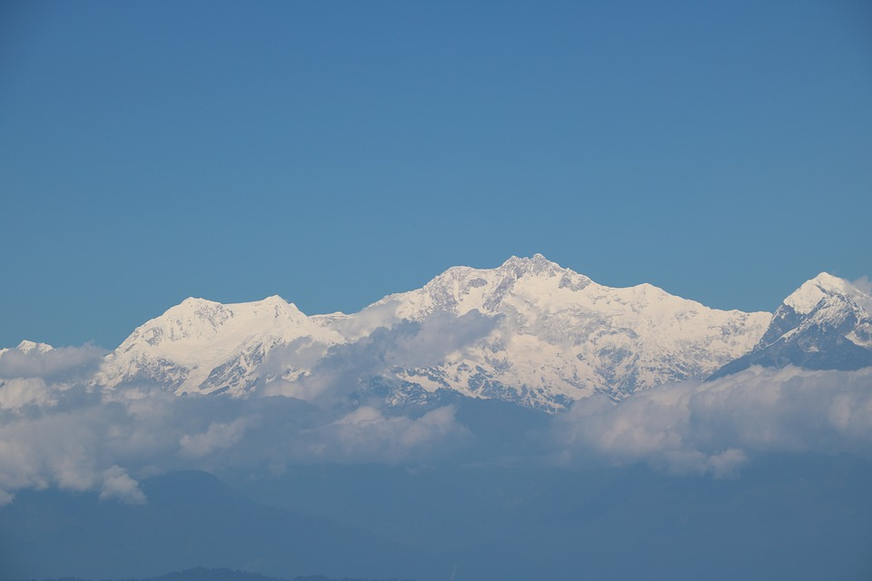 Mountain, Kanchenjungha, Darjeeling, Nature, India
