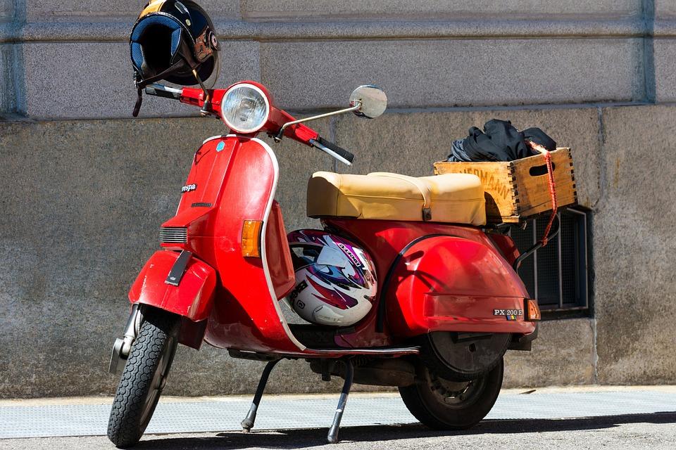 Moto, Vespa, Retrô, Vintage, Clássico, Locomoção