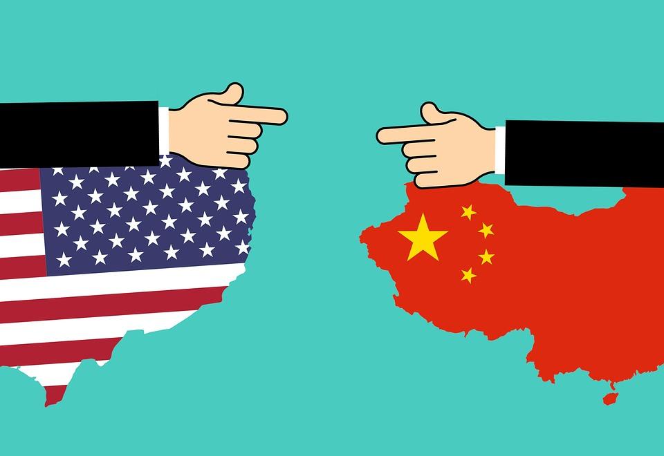 アメリカ, 中国, コマース, 通信, ビジネス, コンセプト, 国, 通貨, 配布, 地球, 経済