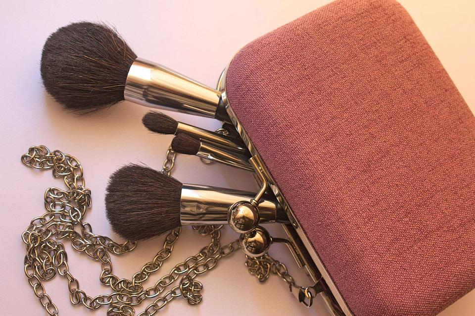 Kozmetika, Brush, Štetec, Make-Up, Taška, Kabelka, Set