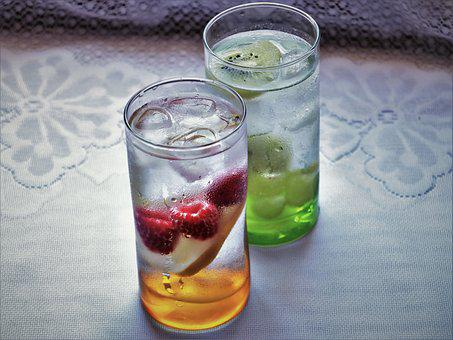 water with fruit essence