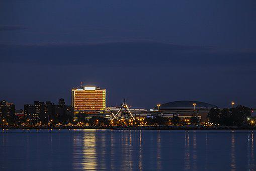 Buffalo, New York, Waterfront, Lights