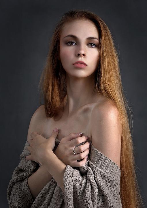 Mujer, Chica, Retrato, Belleza, Pelo, Cara, Feminidad