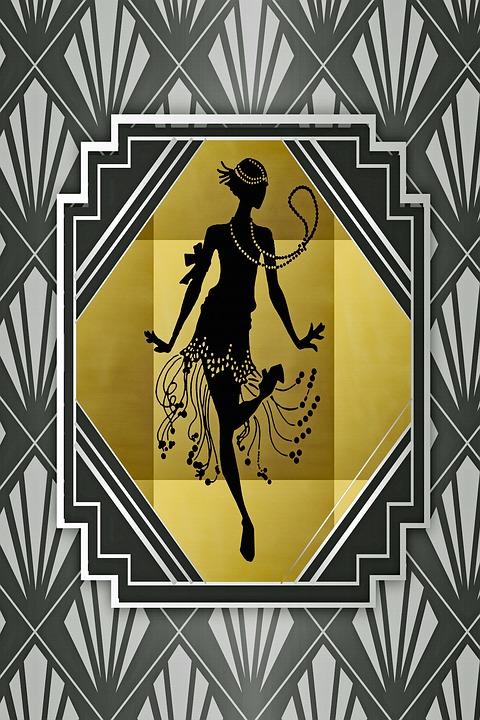 Flapper, Roaring 20, Grande Gatsby, 001, Antigo