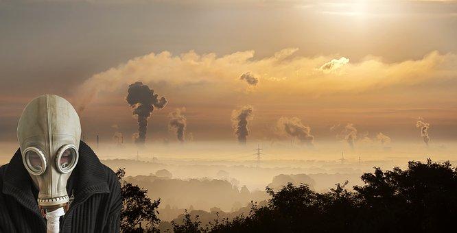 Poluição, Máscara de Gás, Gás, Máscara, Tóxico