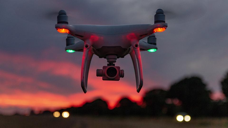 Drone, Dji, Cielo, Paisaje, Volador, Rojo