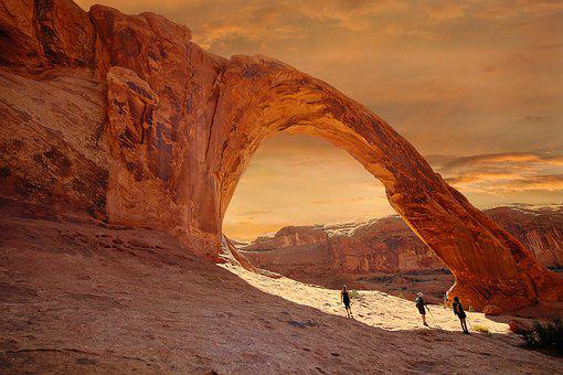 Corona Arch, Ouest, West, Voyage, Usa