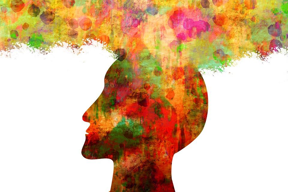 男, 頭, シルエット, 色, 土, 水彩画, ポイント, 抽象的な, 向き, 方向, アライメント, ビュー