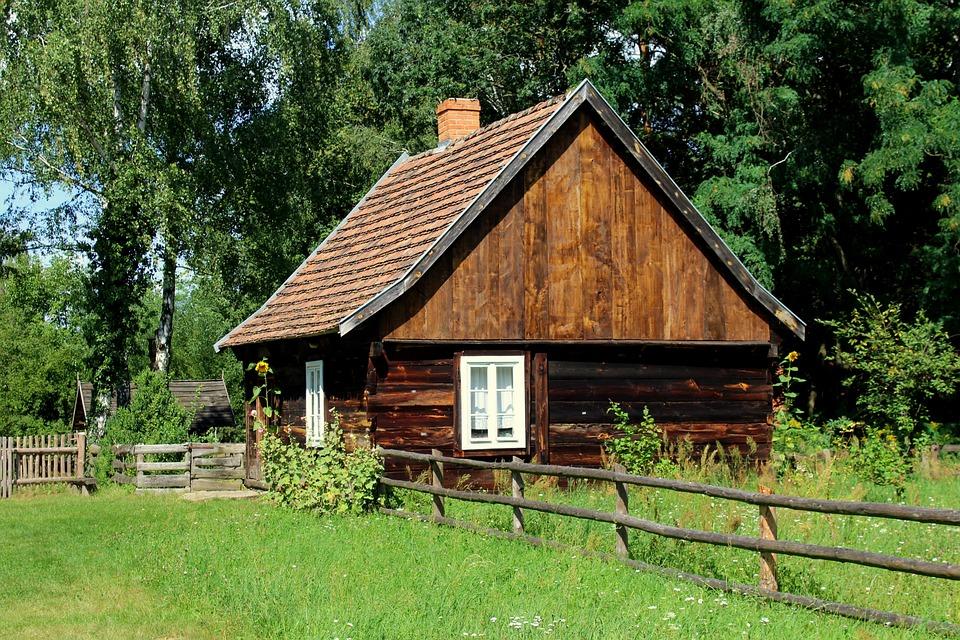 コテージ, 家, 建物, 村山小屋, 古い, アーキテクチャ, 素朴です, 村, 野外博物館, 風景