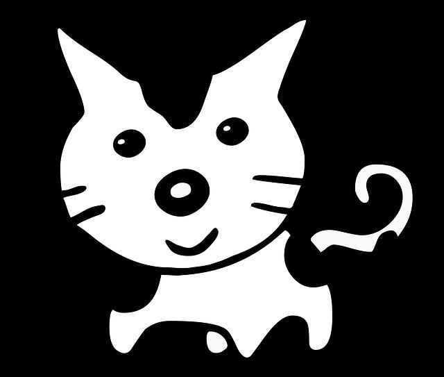 Cat Cartoon Cute Black And Free Image On Pixabay