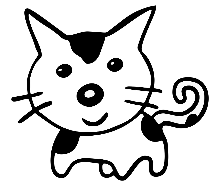 Cat Cartoon Cute Black And Free Image On Pixabay
