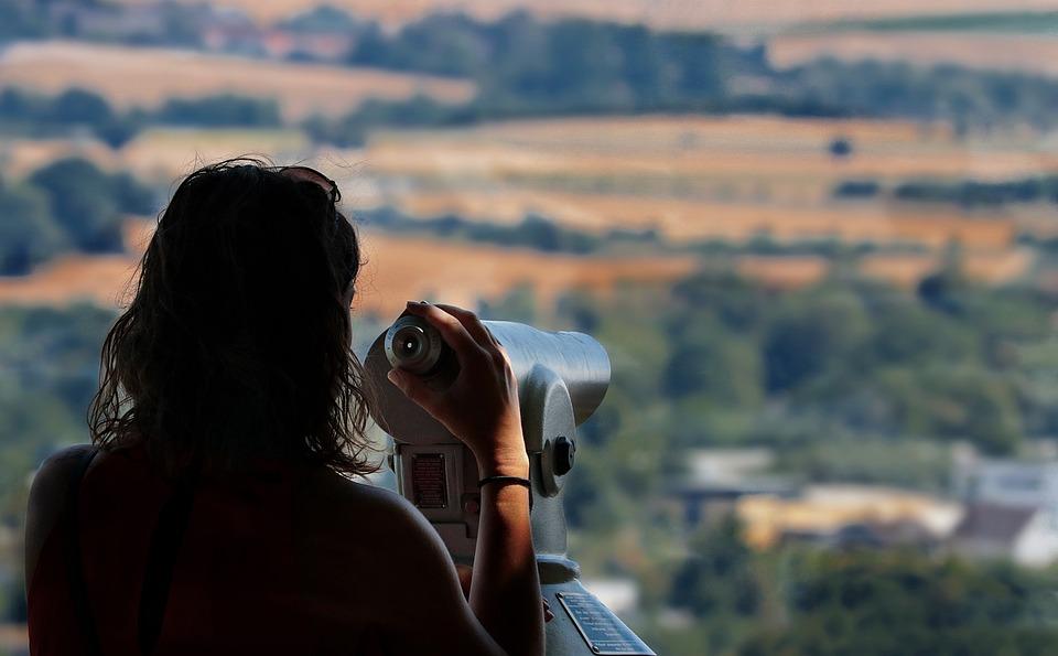 観点, 望遠鏡, 距離, 遠いビジョン, 見通し, 双眼鏡, 展望台, 先見の明, 時計, 見る, 広がり