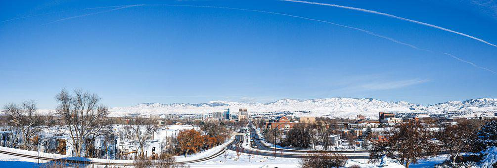Boise, Idaho, Panorama, City, Winter