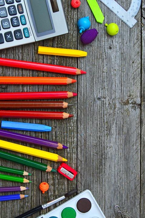 Alat Sekolah Warna Krayon Foto Gratis Di Pixabay