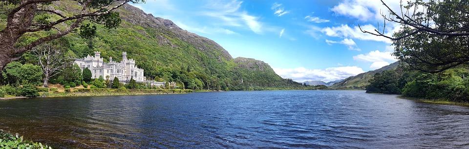爱尔兰, 凯尔莫尔, 阿比, 水, 湖, 康尼马拉, 城堡, 修道院, 建设