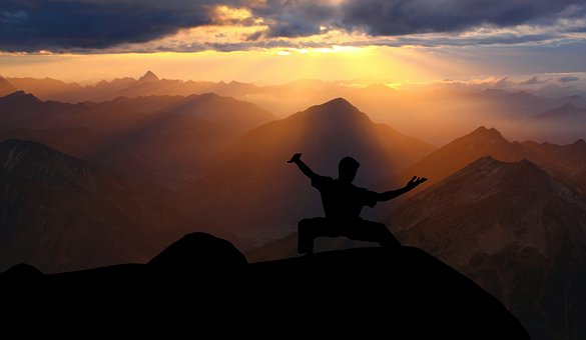 Action, Kung Fu, Sundown, Silhouette
