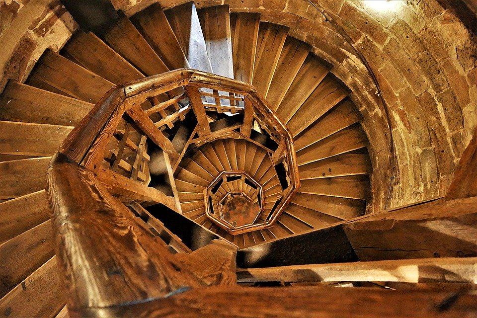Wendeltreppe Holz Aufgang Kostenloses Foto Auf Pixabay
