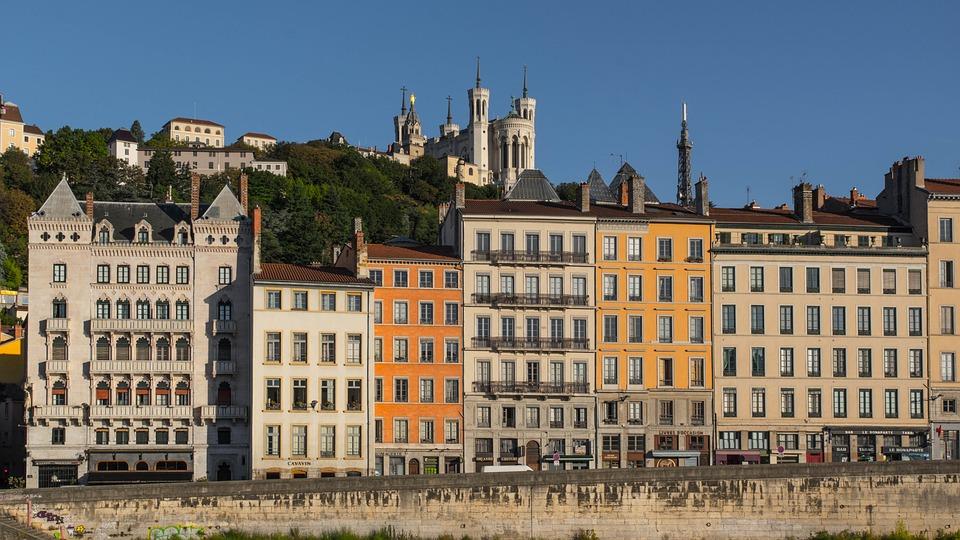 Lyon, Saint-Jean, Quai, Saone, Basilique, Fourvière