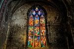 kościół, okno, kolorowy