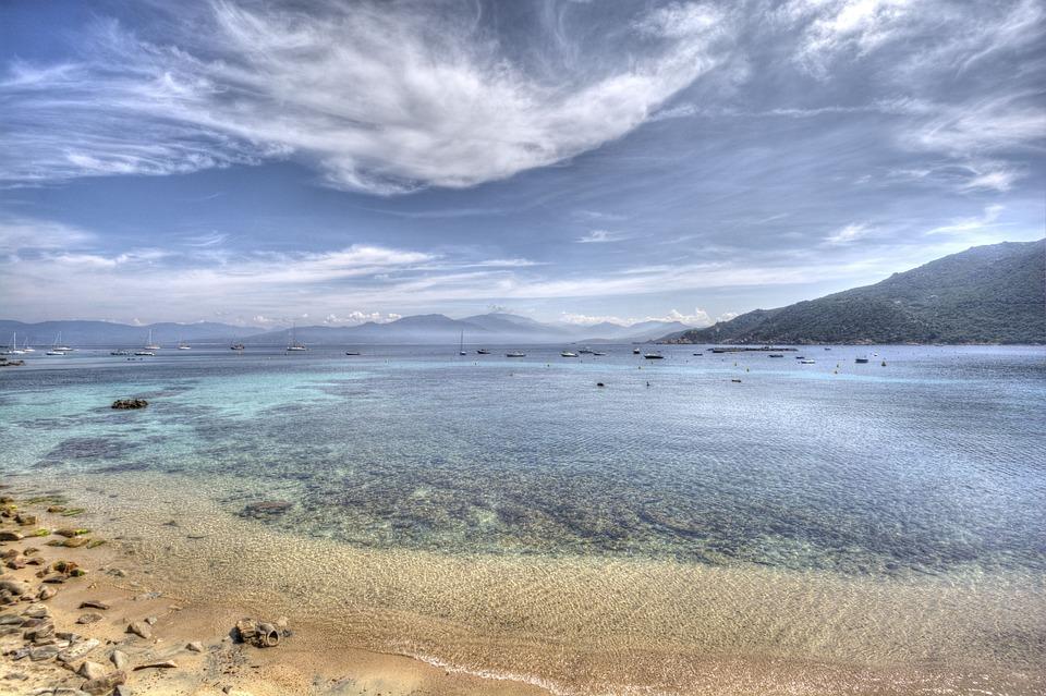 Beach, Korzika, Ég, Tenger, Táj, Természetes