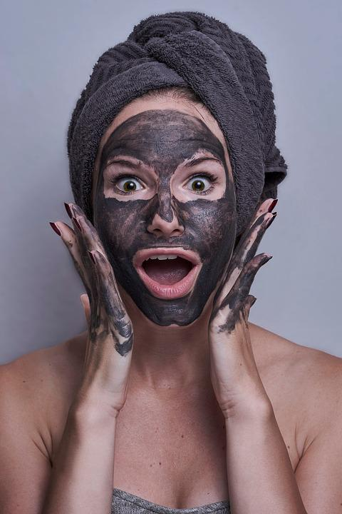 Woman, Portrait, Facemask, Scared, Amazed, Eyes, Mask,What is Charcoal Facemask in Hindi