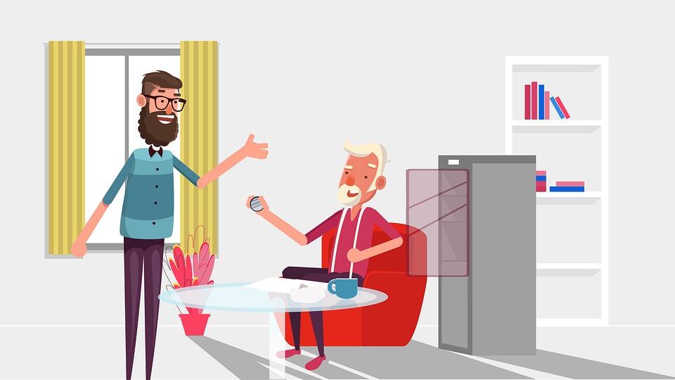 société de production vidéo d'animation de tableau blanc.