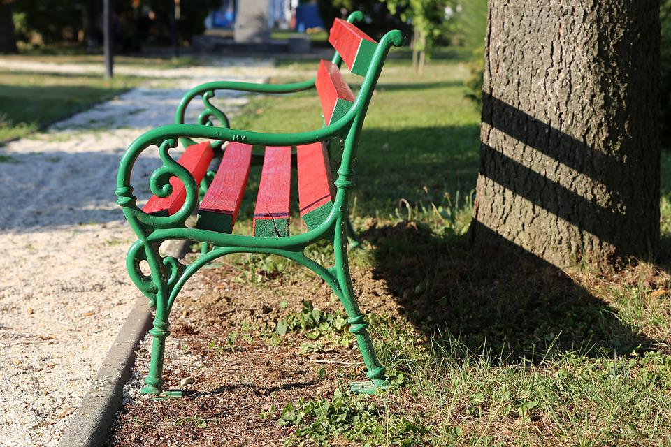 Surprising Red Bench Park Green Free Photo On Pixabay Gmtry Best Dining Table And Chair Ideas Images Gmtryco
