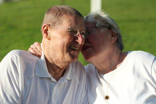 Grandparents, Outdoors, Snuggling