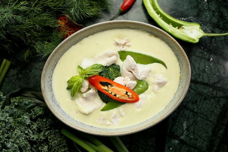 Zielone Curry Kuchnia Tajska Thai Darmowe Zdjecie Na Pixabay
