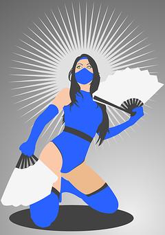 Kitana, Cosplay, Mortal Kombat, Fan Art