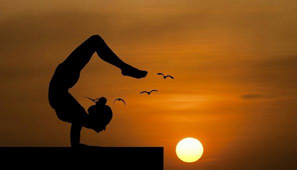 Yoga, Balance, Nature, Handstand, Roof