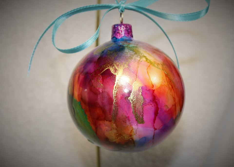 Alcohol Ink Christmas Ornaments.Alcohol Ink Christmas Ornament Free Photo On Pixabay